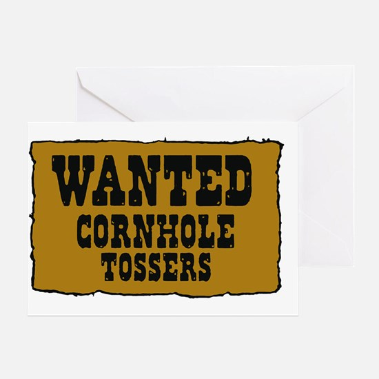 Cornhole wanted poster Greeting Card