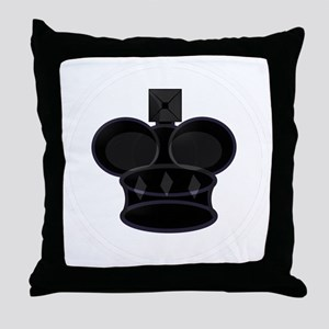 Black King Chess Game Piece Throw Pillow