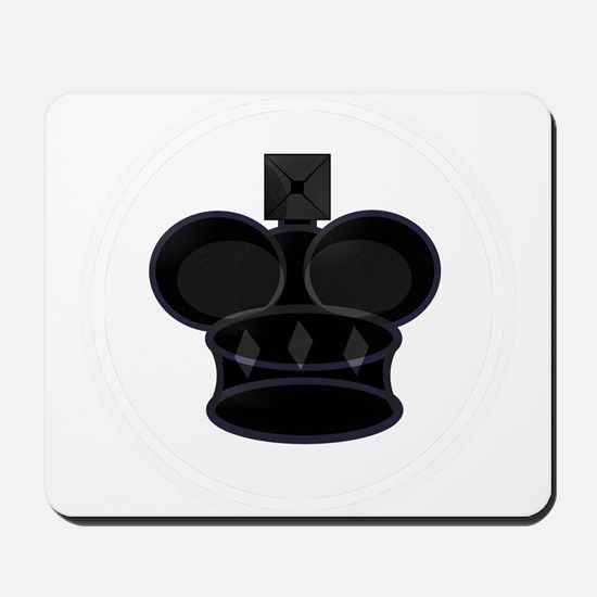 Black King Chess Game Piece Mousepad