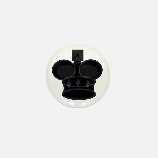 Black King Chess Game Piece Mini Button