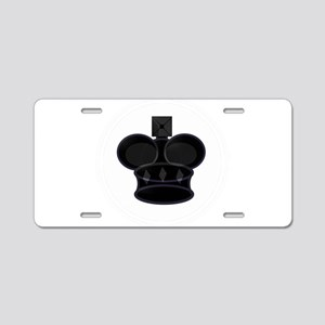 Black King Chess Game Piece Aluminum License Plate