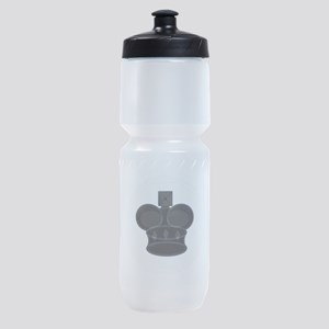 Black King Chess Game Piece Sports Bottle