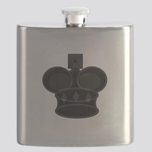 Black King Chess Game Piece Flask
