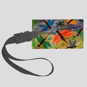Dragonfly party Large Luggage Tag