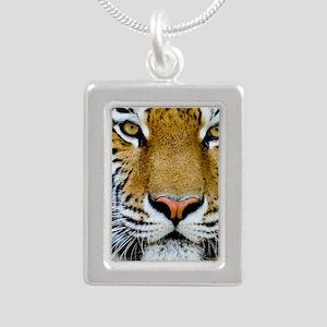 Tiger Silver Portrait Necklace