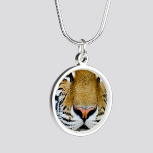 Tiger Silver Round Necklace