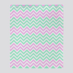 Pink and lime Chevrons Throw Blanket