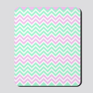 Pink and lime Chevrons Mousepad
