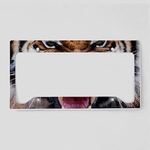 Big Cat Tiger Roar License Plate Holder
