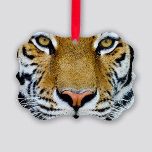 Big Cat Tiger Roar Picture Ornament