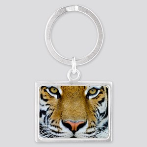 Big Cat Tiger Roar Landscape Keychain