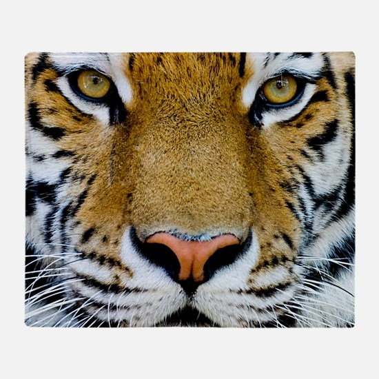 Big Cat Tiger Roar Throw Blanket
