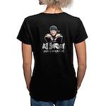AJ Jordan Women's V-Neck Dark T-Shirt