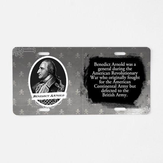 Benedict Arnold Historical Aluminum License Plate
