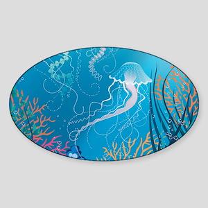 Jellyfish Sticker (Oval)