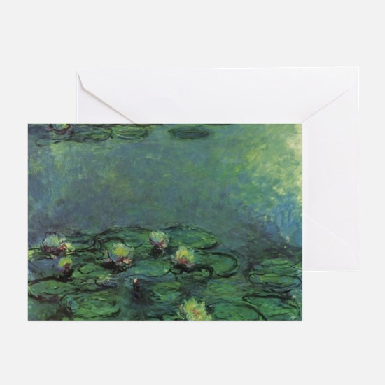 BEAUTIFUL Claude Monet Waterlilies Greeting Cards