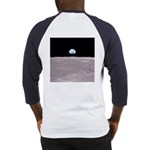 Apollo 11 Earthrise on the Moon Baseball Jersey