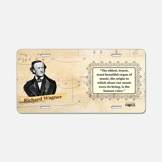 Richard Wagner Historical Aluminum License Plate