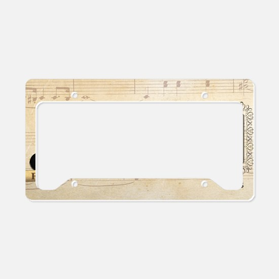 Franz Schubert Historical License Plate Holder