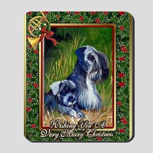 Cesky Terrier Dog Christmas Mousepad