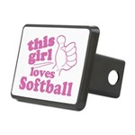 This Girl Loves Softball Hitch Cover