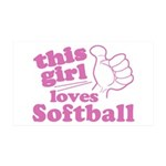 This Girl Loves Softball Wall Decal