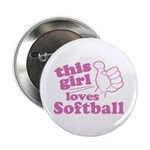 """This Girl Loves Softball 2.25"""" Button (10 pack)"""