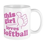 This Girl Loves Softball Mugs