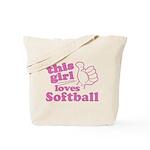 This Girl Loves Softball Tote Bag