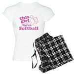 This Girl Loves Softball Pajamas