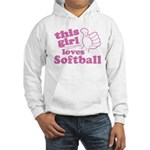 This Girl Loves Softball Hoodie
