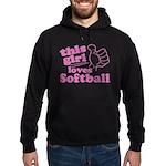 This Girl Loves Softball Hoodie