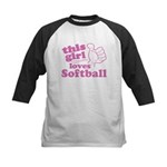 This Girl Loves Softball Baseball Jersey
