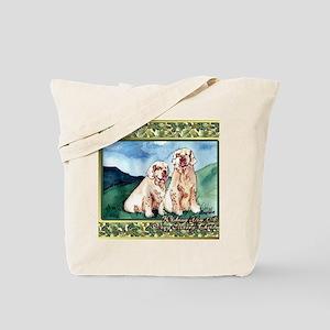 Clumber Spaniel Dog Christmas Tote Bag