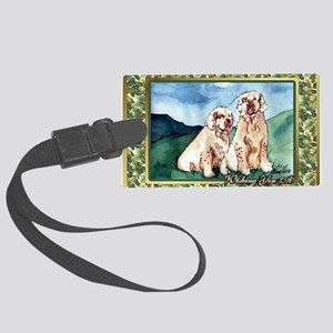 Clumber Spaniel Dog Christmas Large Luggage Tag