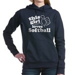 This Girl Loves Softball Hooded Sweatshirt