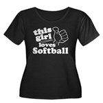 This Girl Loves Softball Plus Size T-Shirt