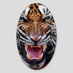 Tiger Mad Sticker (Oval)