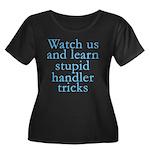 Watch Us Women's Plus Size Scoop Neck Dark T-Shirt
