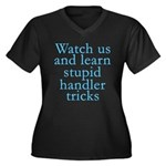 Watch Us Women's Plus Size V-Neck Dark T-Shirt