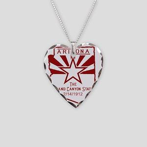 Arizona The Grand Canyon Stat Necklace Heart Charm