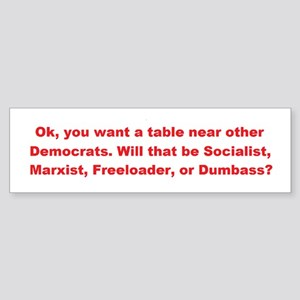 Choice Of Four! Bumper Sticker
