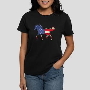 American Flag Horse T-Shirt