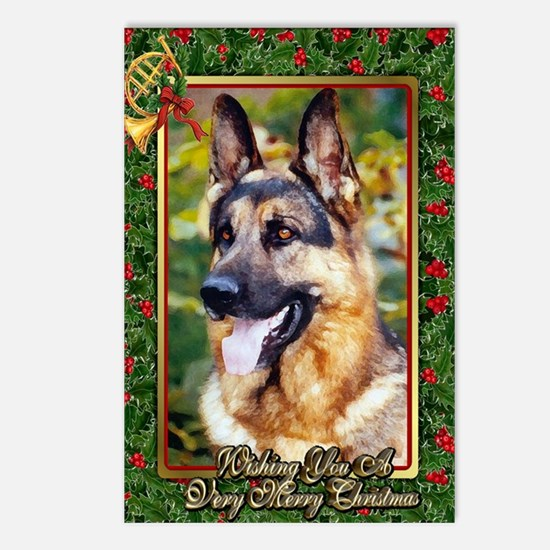 German Shepherd Dog Chris Postcards (Package of 8)