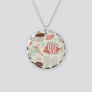 Sea Life Necklace Circle Charm