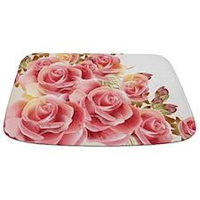 Artistic Pink Roses Bathmat
