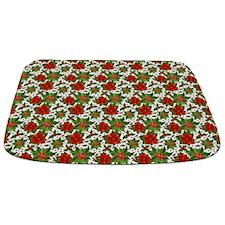 Poinsettia Pattern Bathmat