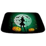 Green Halloween Bathmat