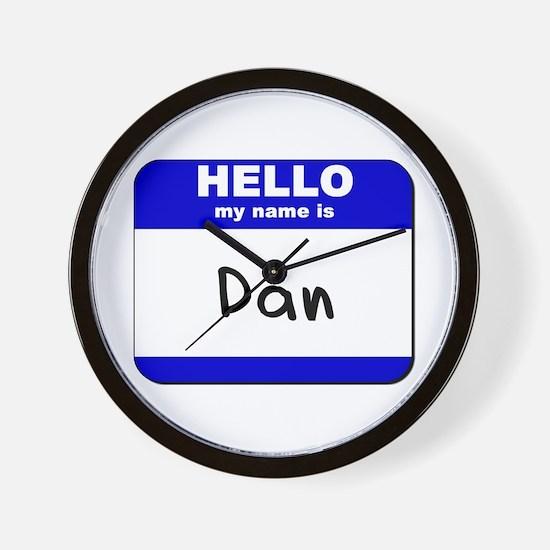 hello my name is dan  Wall Clock