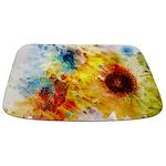 Watercolor Sunflowers Bathmat
